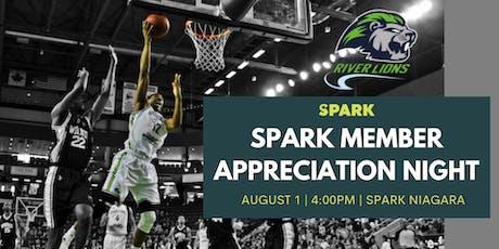Spark Member Appreciation Night tickets
