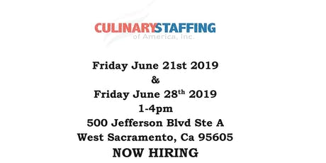Culinary Staffing Recruitment tickets