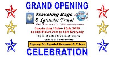 Grand Opening Celebration Event - Latitudes Travel & Traveling Bags