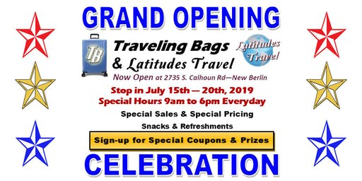 Grand Opening Celebration Event - Latitudes Travel & Traveling Bags