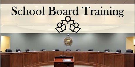 School Board Training Phase 1 tickets