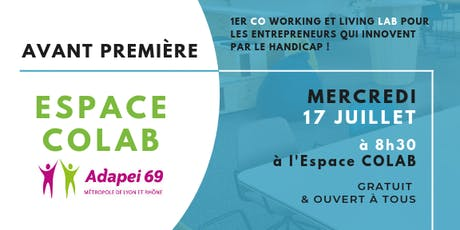 Avant première Espace COLAB ! billets