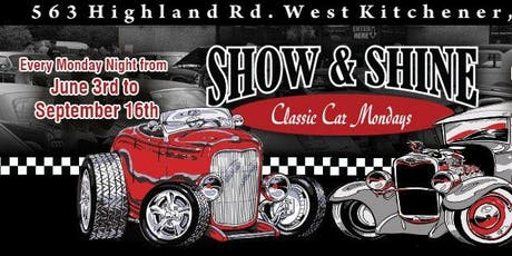 Show and Shine Classic Car Mondays tickets