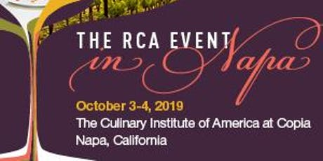 The RCA Event in Napa- Register Now at http://napa.culinology.org/! tickets