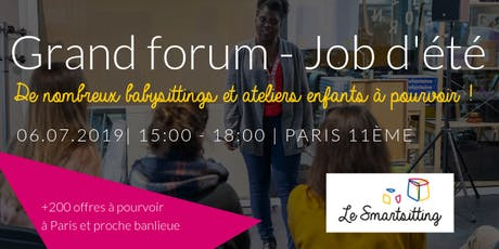 Grand Forum - Job d'été billets