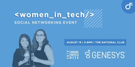 Women in Tech Social - Canada FinTech Week tickets