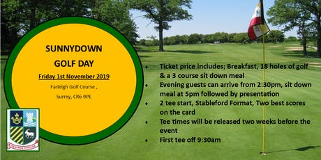 Sunnydown School Charity Golf Day tickets