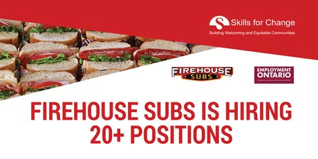 Job Fair - Firehouse Subs is Hiring for new location at Stockyards Village tickets