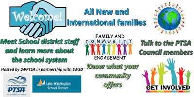 NEW AND INTERNATIONAL FAMILIES WELCOME EVENT 2019