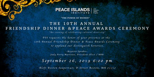 10th Annual Friendship Dinner & Peace Awards Ceremony