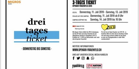 Openair Frauenfeld 3- Tages Ticket Tickets
