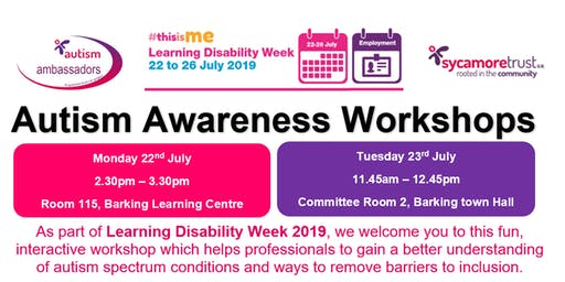 Autism Awareness Workshop - Learning Disability Week 2019