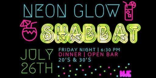 20s & 30s Glow Shabbat Dinner + GLOpen Bar | Friday, July 26