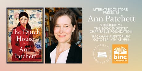 Literati Bookstore Presents Ann Patchett in benefit of The Binc Foundation tickets
