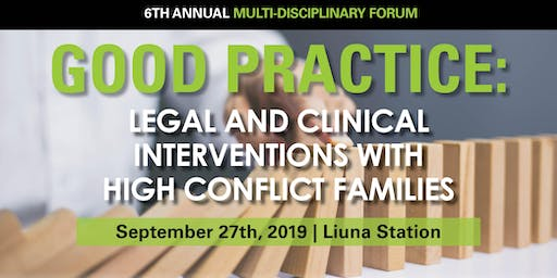 Good Practice: Legal and Clinical Interventions with High Conflict Families