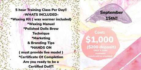 WAXING DOLL BROW TINT CLASS tickets