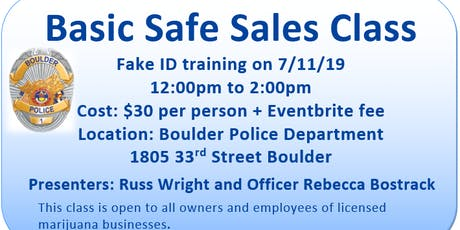 Basic Safe Sales Class tickets