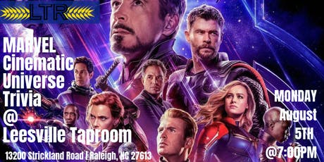 Marvel Cinematic Universe Trivia at Leesville Taproom tickets