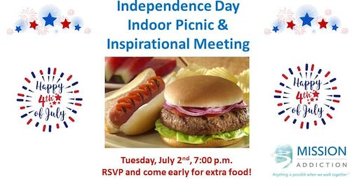 Mission Addiction Independence Day Picnic & Inspiration