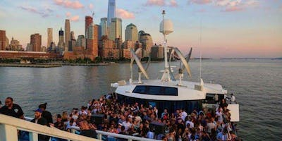 BOOSE CRUISE, PARTY CRUISE  NEW YORK CITY .   VIEWS  OF STATUE OF LIBERTY,Cockctails & drinks