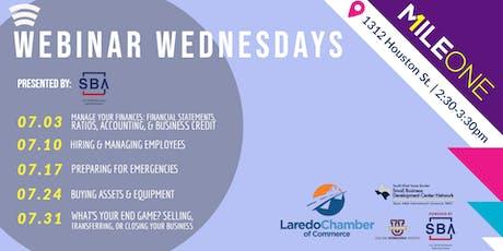 Webinar Wednesdays at MileOne - Presented by SBA tickets