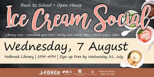 Holbrook Library Ice Cream Social
