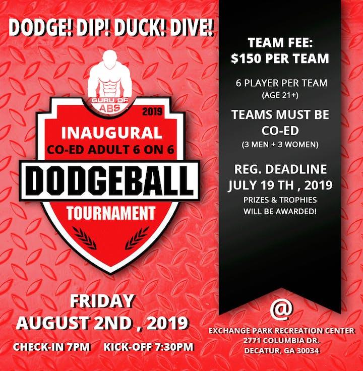 The Guru of Abs Inaugural CO-ED 6 on 6 Dodgeball Tournament