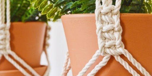 Macrame Plant Hanger Workshop with Language of Knots