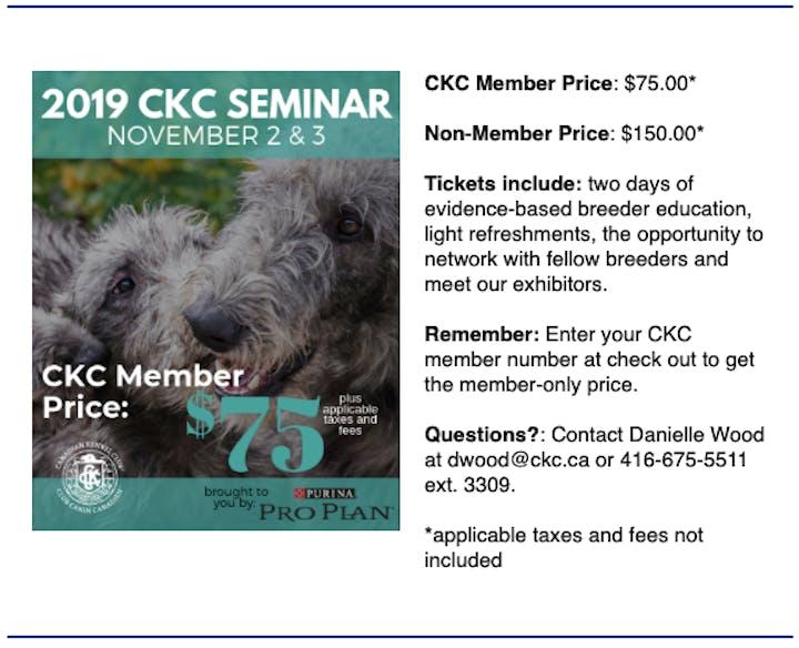 2019 CKC Seminar: Unpacking Canine Genetics