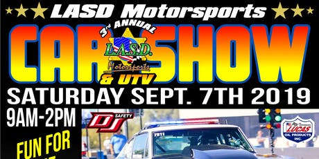 3rd Annual LASD Motorsports Car and UTV Show tickets
