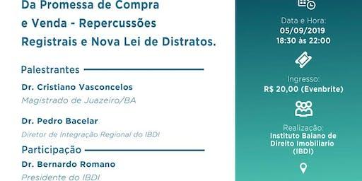 IBDI - Repercussões Registrais e Nova Lei de Distratos