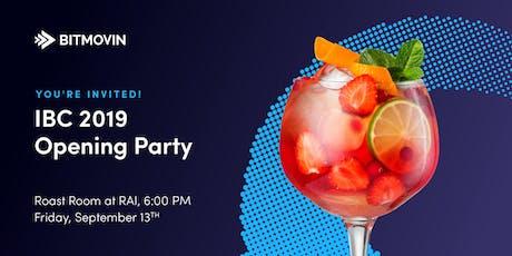 Bitmovin IBC 2019 Opening Party tickets