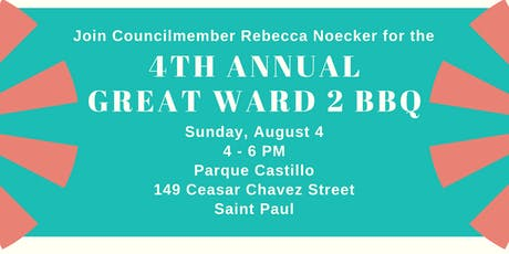 The Great Ward 2 BBQ and Fundraiser for Councilmember Rebecca Noecker tickets