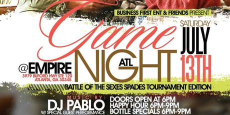 "GAME NIGHT ATL ""BATTLE OF THE SEXES EDITION"" (SAT, 7/13/19) tickets"