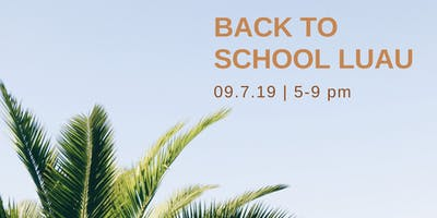 Back to School Luau
