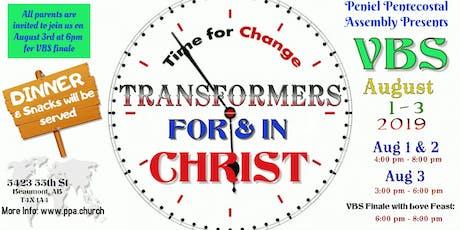 Transformers- Vacation Bible School tickets