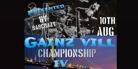 GAINZ VILL CHAMPIONSHIP IV tickets