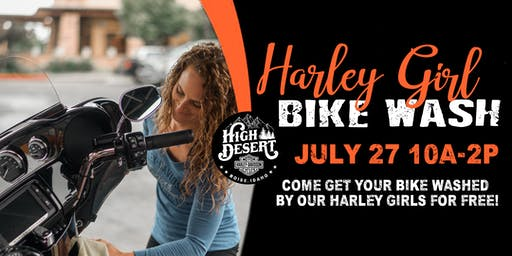 Harley Girl Bike Wash