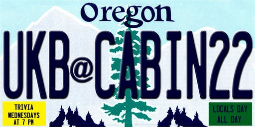 Trivia Wednesday & Local Day w/ UKB Trivia at Cabin 22