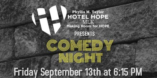 Dinner and Comedy Extravaganza Benefiting Hotel Hope