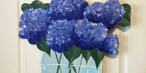 Blue Hydrangea Door Hanger