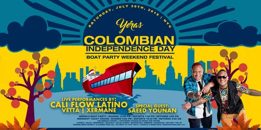 Yeras Colombian Independence Day NYC Sunset Boat Party Hornblower Infinity