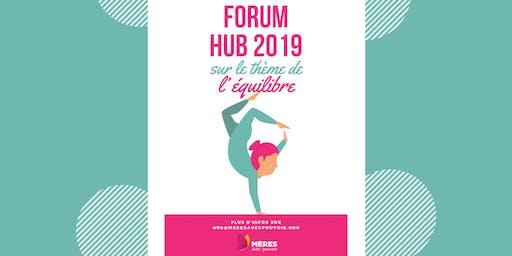 Forum du HUB 2019 2 journées d'idéation / mobilisation nationale - Thème : L'équilibre