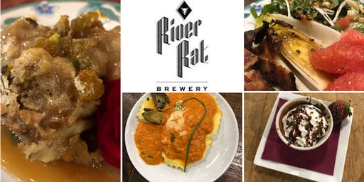 Beer Dinner featuring Chef Kelly DeLaire and River Rat Brewery