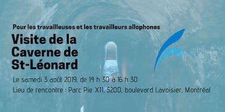 Visite de la Caverne de St-Léonard billets