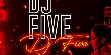 DJ Five at Tao Free Guestlist - 8/08/2019 tickets