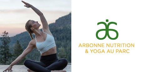Arbonne Nutrition et Yoga au parc Outremont billets