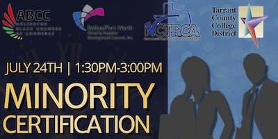 Minority Certification Bootcamp