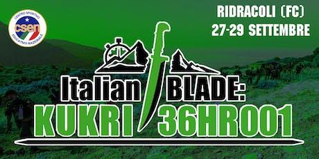 Italian BLADE: KUKRI 36HR 001 biglietti