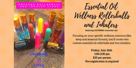 Essential Oil Wellness Rollerballs and Inhalers tickets